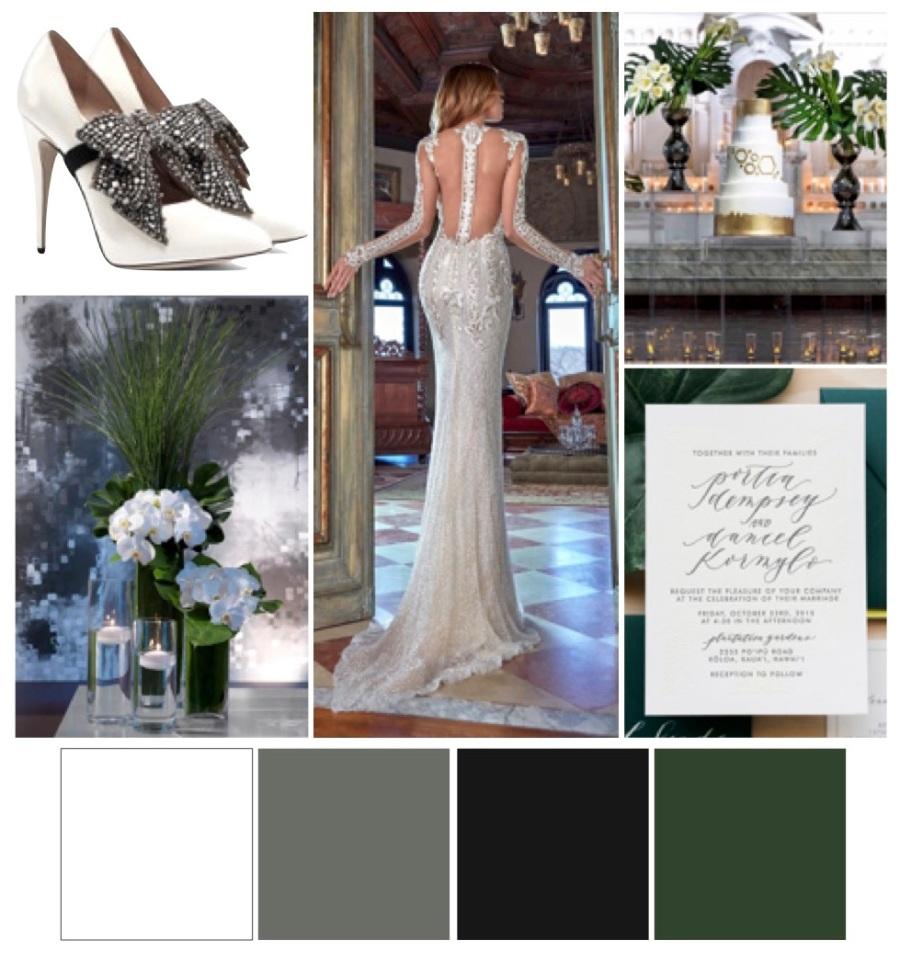 Modern wedding, modern wedding palette, modern color scheme, 2018 wedding trends, wedding planner, Scottsdale wedding planner