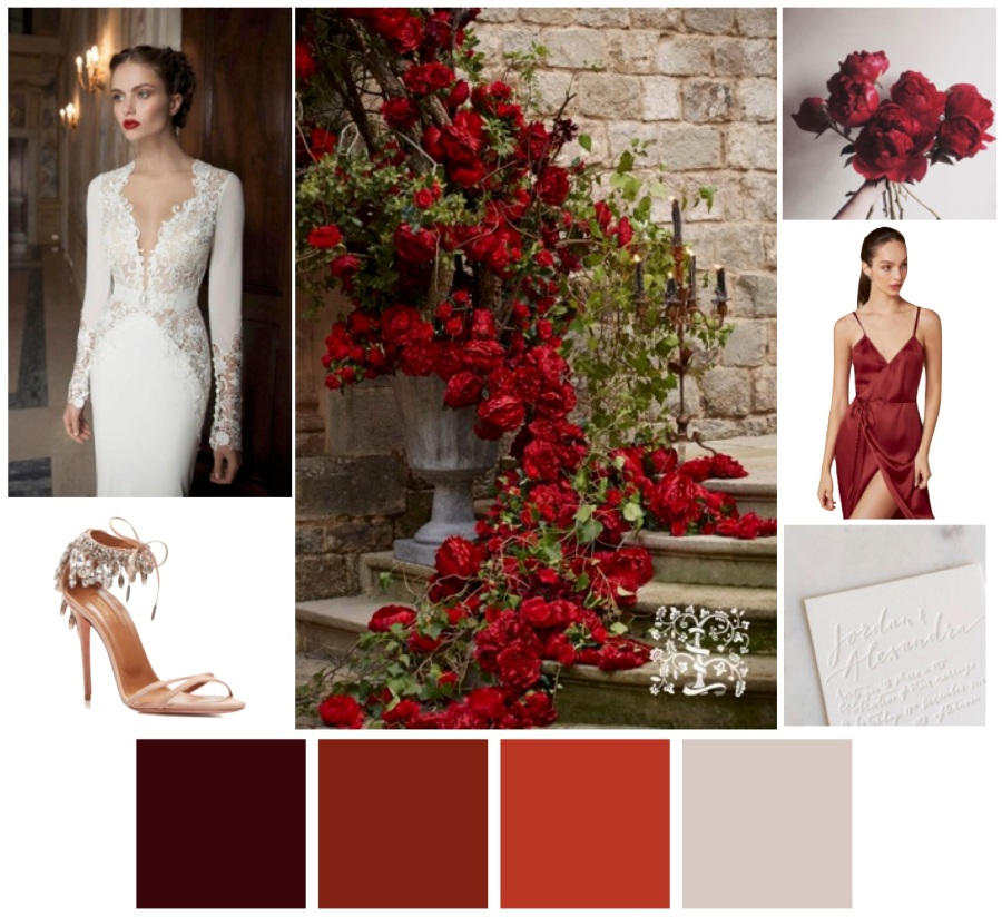 Red wedding, modern red wedding, red color scheme, red color palette, modern wedding, wedding planner, Scottsdale wedding planner, wedding designer